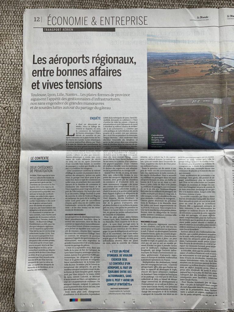 """un article du """"Monde"""""""